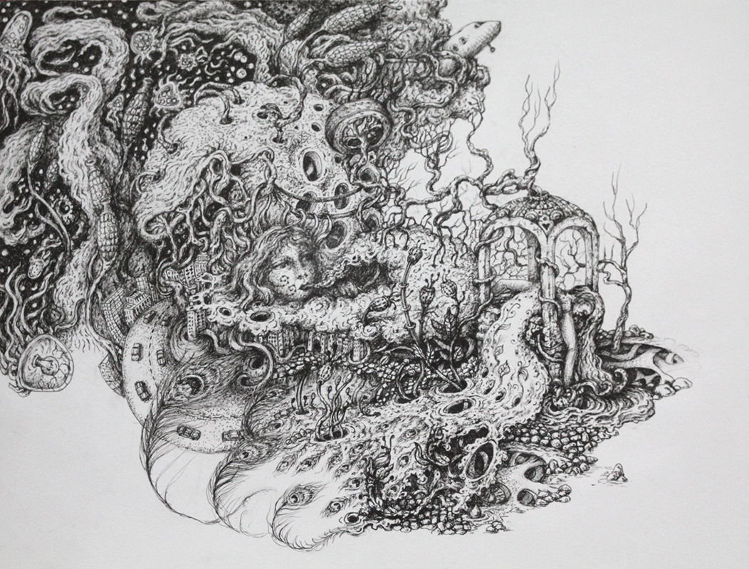 Surreal drawing project exhibition